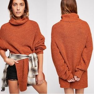 NWOT Free People Eleven Chunky Turtleneck Sweater